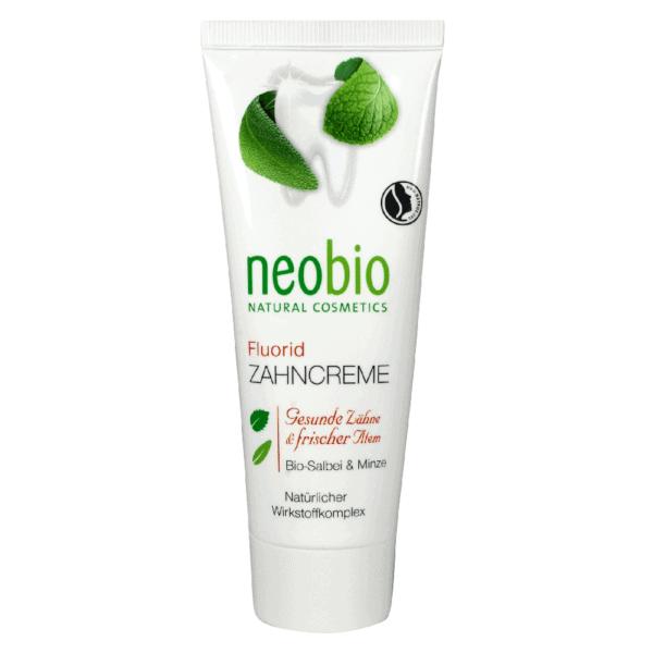 Neobio fogkrém fluoriddal – bio zsályával és mentával