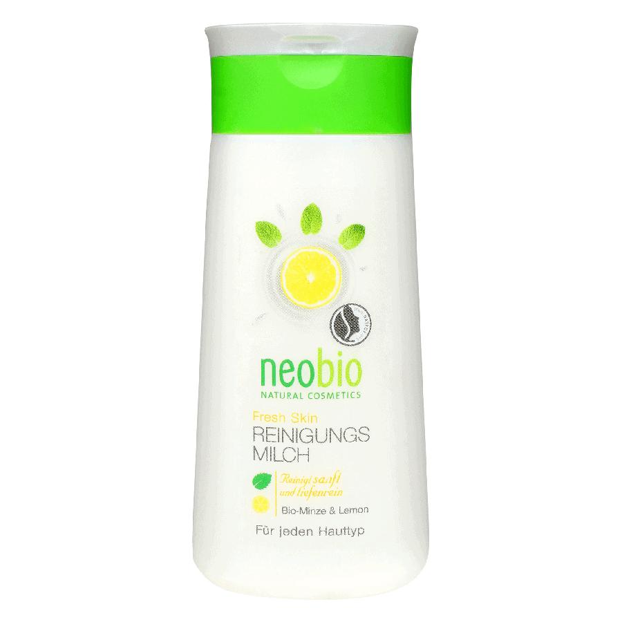 Neobio Frissítő Arctisztító tej – BIO Mentával és BIO Citrommal