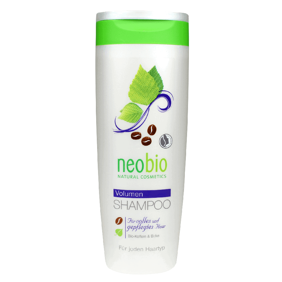 Neobio Volumen Sampon - Bio Koffeinnel és Bio Nyírfa kivonattal