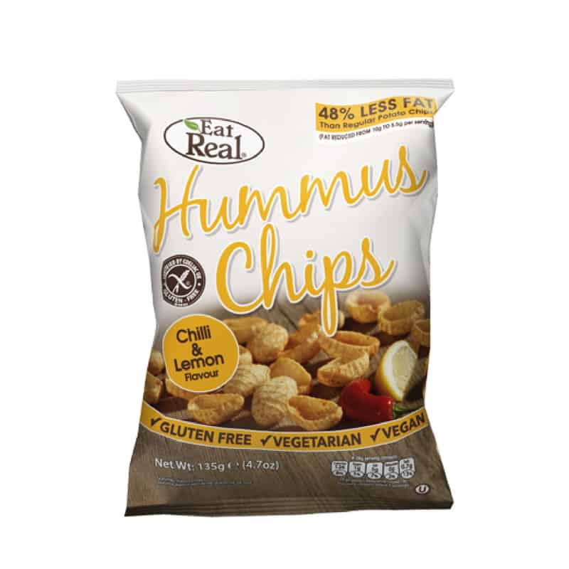 Eat Real Hummus-Csicseriborsó Chips chili citrom 45g