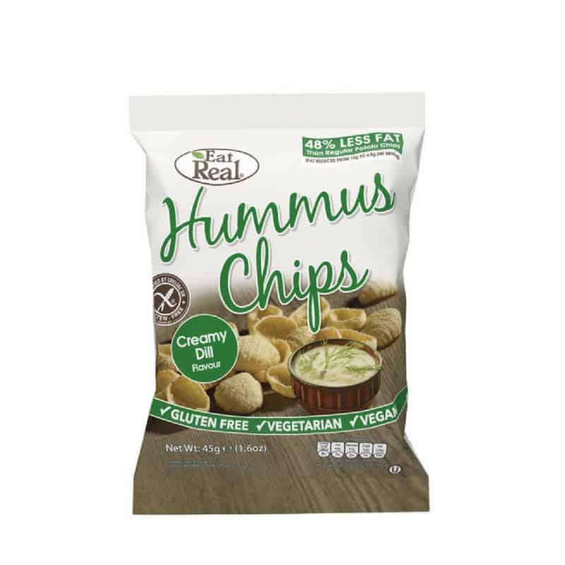 Hummus-Csicseriborsó Chips Tejszínes kapros Eat Real 45g
