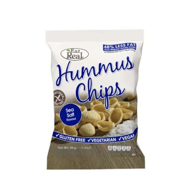 Eat Real Hummus-Csicseriborsó Chips tengeri sós 45g