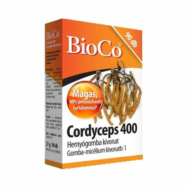 BioCo Cordyceps 400 Hernyogomba Kivonat 90db