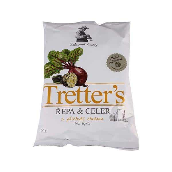 Tretter's Cékla Zeller Chips Cheddar Sajt Ízű