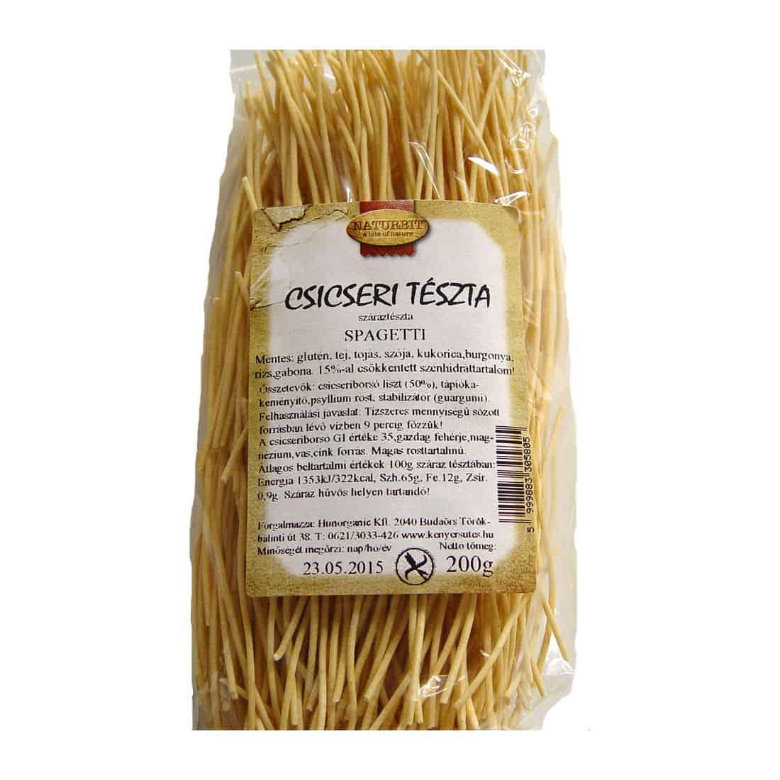 Mimen csicseri spagetti gluténmentes csicseriborsó tészta 200g