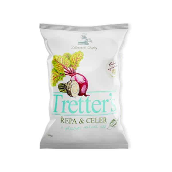 Tretter's Cékla Zeller Chips Tengeri Sóval 90g
