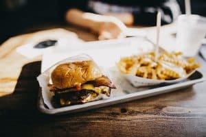 stressz evés hamburger