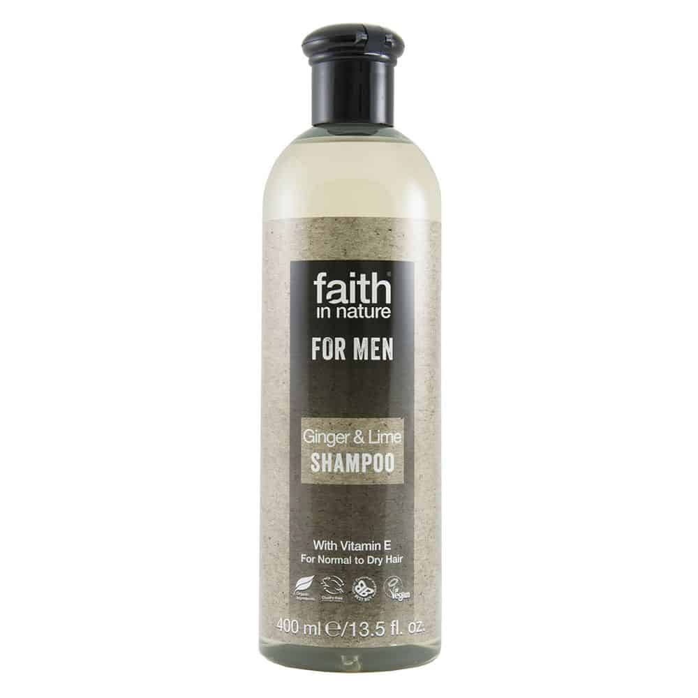 faith in nature gyömbér és lime sampon férfiaknak 250ml