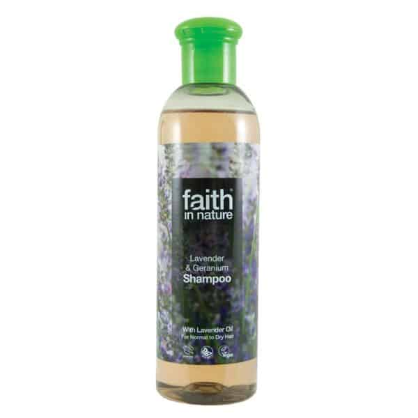 Faith In Nature levendula és geránium sampon 250ml