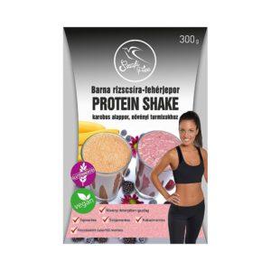 Szafi Free barna rizscsíra fehérjepor karobos protein shake 300g