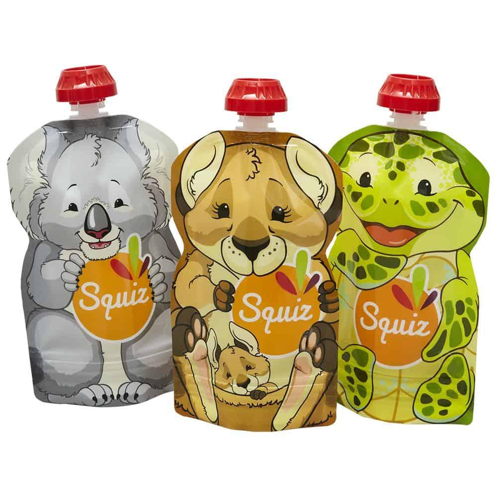 Squiz ételtasak 3db Kenguru Koala Teknős